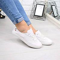Кеды женские Benny белые 4802, летняя обувь, фото 1