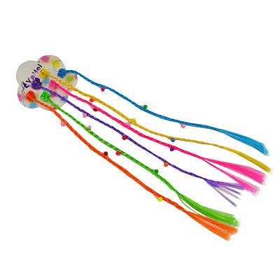 Цветные косички трессы на заколках - крабиках