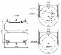 Пневмоподушка 12x12E (бублик) ROR, Fruehauf, Lohr, Gigant 171067 Connect Турция