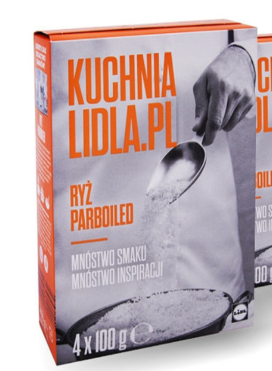 Рис Kuchnia lidlai Ryz Parboiled в пакетах пропаренный 4х100г