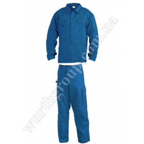 Комплект куртка и брюки синие 100% ХБ Wurth