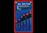 Набор выколоток с протектором (чехол из теторона) 6 предметов KING TONY 1006GPN (Тайвань)