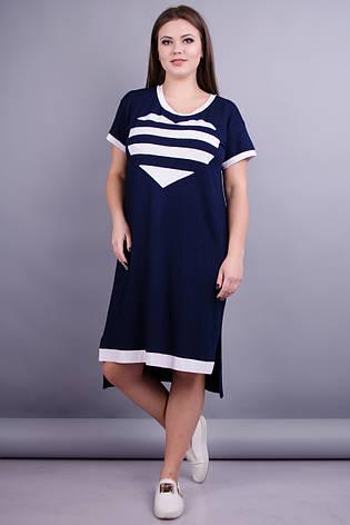 2fb6c41997c32c Юта. Практична сукня плюс сайз. Синій Розмір 50 52 54 56 58 60 62 64 ...