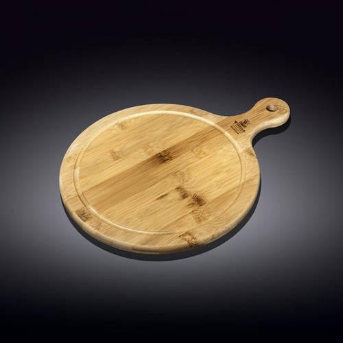 Блюдо круглое сервировочное с ручкой 17,5х12,5см Wilmax Bamboo WL-771094