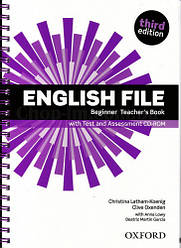 English File Third Edition Beginner Teacher's Book with Test and Assessment CD-ROM / Книга для учителя