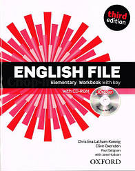 English File Third Edition Elementary Workbook with key and iChecker / Рабочая тетрадь с ответами