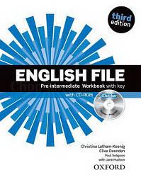 English File Third Edition Pre-Intermediate Workbook with key and iChecker / Рабочая тетрадь с ответами