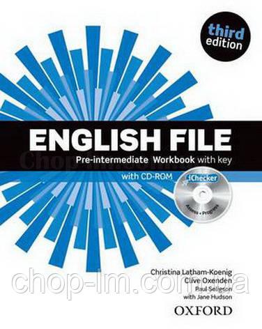 English File Third Edition Pre-Intermediate Workbook with key and iChecker / Рабочая тетрадь с ответами, фото 2