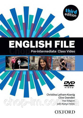 English File Third Edition Pre-Intermediate Class DVD / Видео диск к курсу