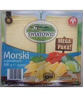 Сыр пластинами  Morski  Luxmilk 500г