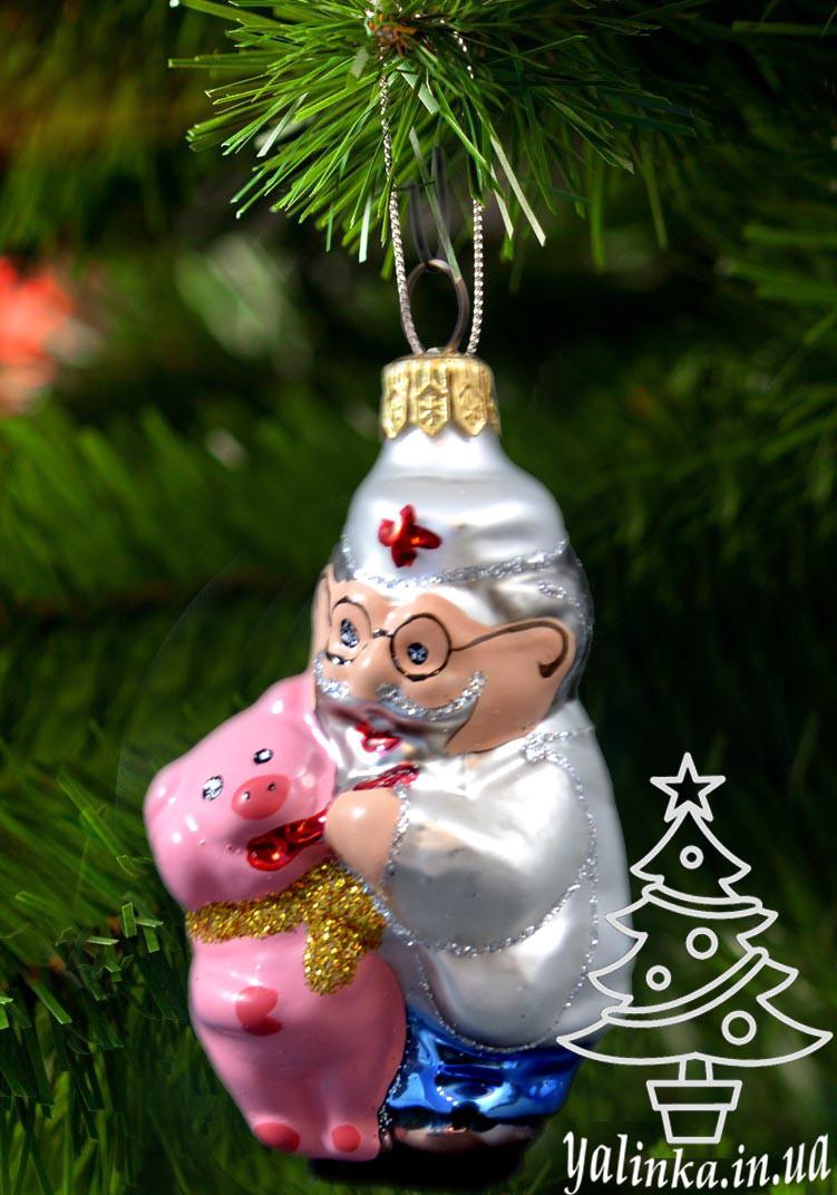 Стеклянная елочная игрушка Доктор Айболит 0256