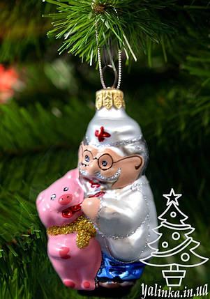 Стеклянная елочная игрушка Доктор Айболит 0256, фото 2