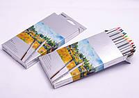Карандаши Marco: акварельные, 24 цвета + кисточка