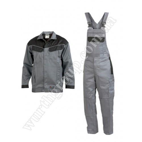Комплект Сварщика куртка и комбинезон серый Wurth