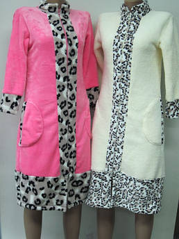 Женский халат без капюшона Махра Размер 40 - 54