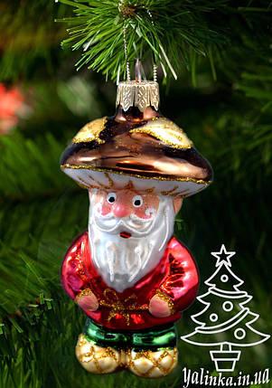 Стеклянная елочная игрушка Старичок-Боровичок 0029, фото 2