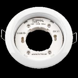 Встраиваемый светильник Ilumia под лампу GX53, Белый, 90мм (048)