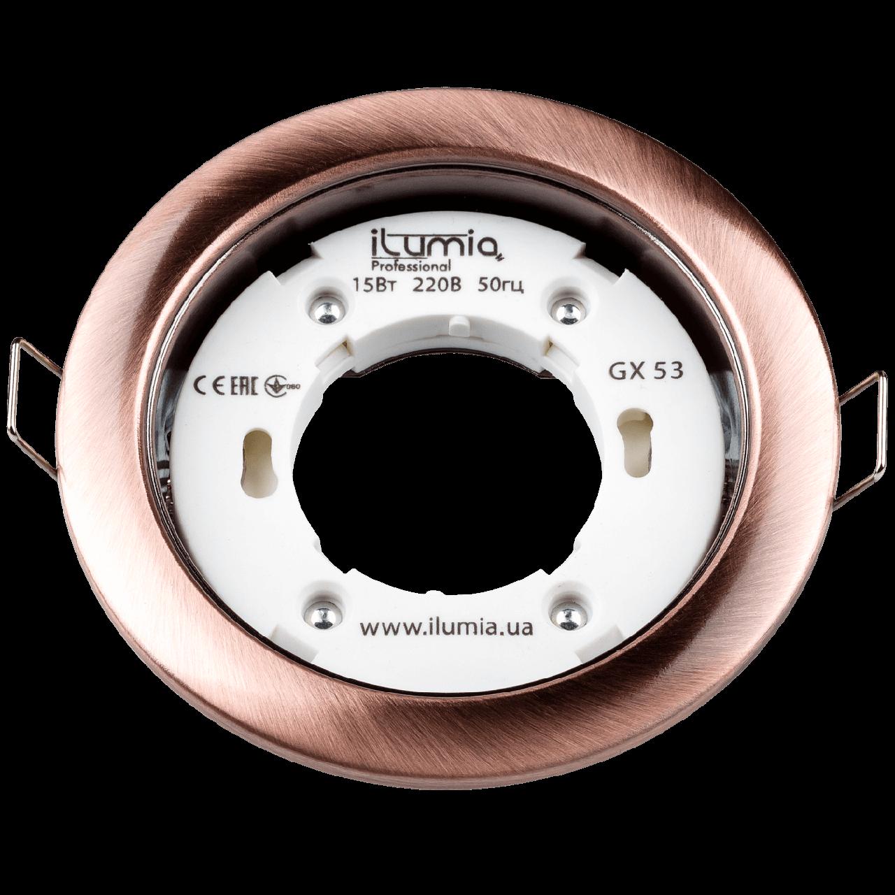 Встраиваемый светильник Ilumia под лампу GX53, Состаренная медь, 90мм (053)