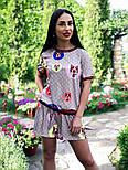Женский стильный костюм: футболка и шорты, фото 3