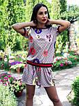 Женский стильный костюм: футболка и шорты, фото 4