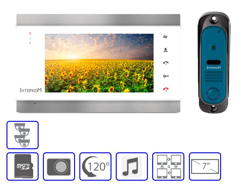Комплект домофонной системы  Інтерком IM-02 +  Інтерком IM-10