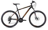 """Велосипед SPELLI SX-3200 29ER (19"""") черно-оранжевый с синим"""