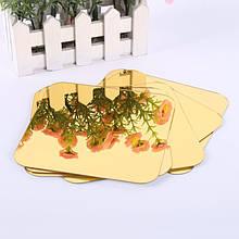 Набор акриловых зеркал 6 шт. 10×10 см × 1 мм золото