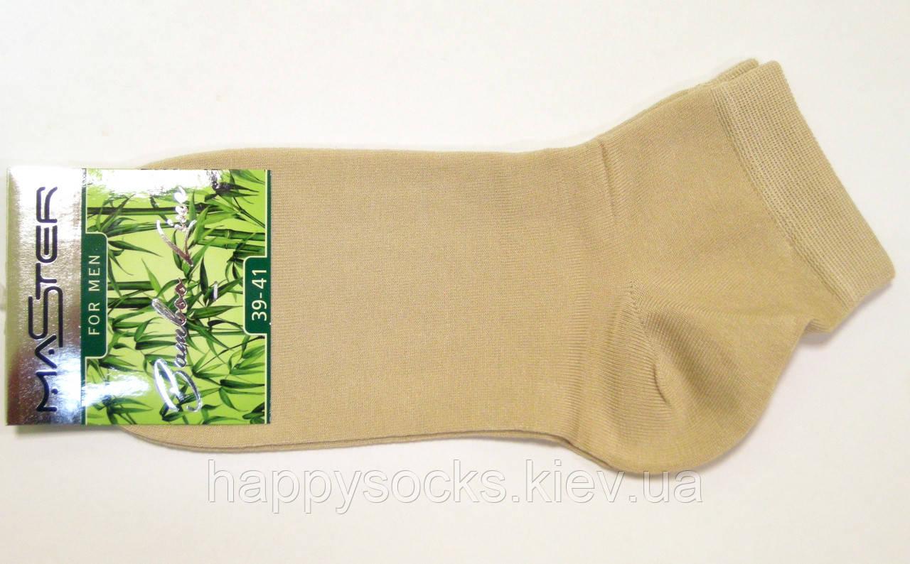 Носки бамбуковые заниженные бежевого цвета
