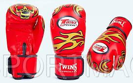 Перчатки боксерские DX TWINS Red. Рукавички боксерські