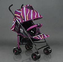 Коляска прогулочная Joy S608. Регулирующая спинка, фиолетовая