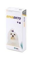 Жевательная таблетка Бравекто для защиты собак от клещей и блох 112,5 мг для собак массой 2 — 4,5 кг