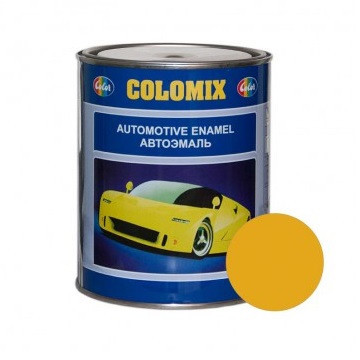 Автокраска1035 Желтая COLOMIX алкидная краска 0,8л