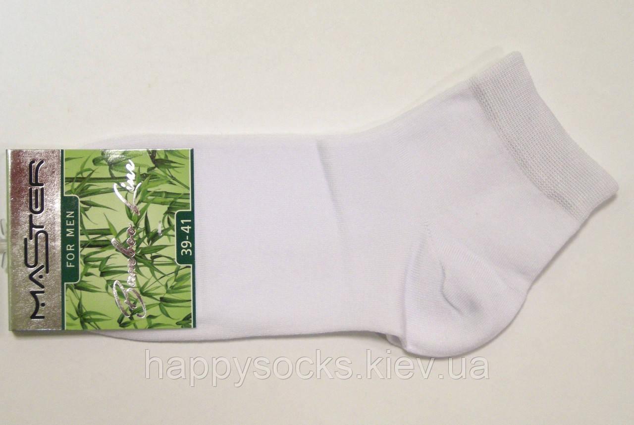 Мужские бамбуковые носки заниженные белого цвета