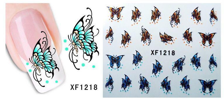 Наклейки для нігтів XF1218