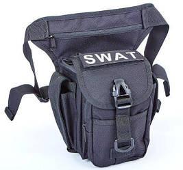 Сумка тактическая на бедро SWAT TY-229-BK, цвет черный