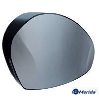 Держатель туалетной бумаги в рулонах джамбо Merida Mercury (нержавейка+чёрный ABS пластик), Англия, фото 1
