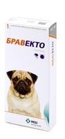 Жевательная таблетка Бравекто для защиты собак от клещей и блох 250,0 мг для собак массой >4,5 — 10 кг