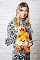 Рюкзачок лисичка с мордочкой