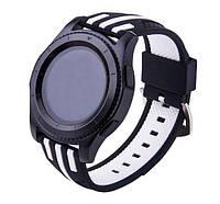 Силиконовый ремешок Dart для Samsung Gear S3 Classic SM-R770 / Frontier RM-760 - Black-White