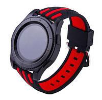 Силиконовый ремешок Dart для Samsung Gear S3 Classic SM-R770 / Frontier RM-760 - Black-Red