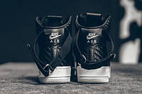"Мужские Кроссовки Nike Air Force 1 High LV8 Woven ""Black/White"", фото 1"