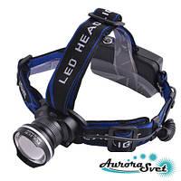 Фонарик налобный ультрафиолетовый. LED фонарик. Светодиодный фонарь.