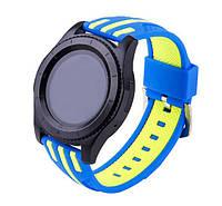 Силиконовый ремешок Dart для Samsung Gear S3 Classic SM-R770 / Frontier RM-760 - Blue&Yellow