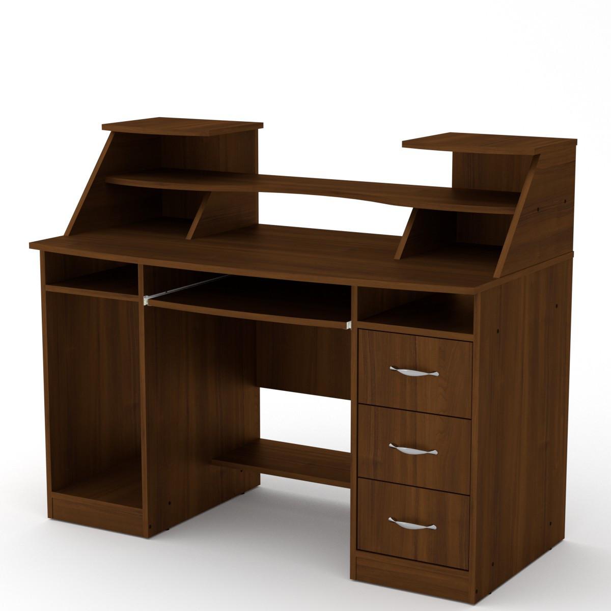 Офисный стол Компанит Комфорт-5 1268х650х756+282 мм дсп