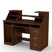 Компьютерный стол Компанит Комфорт-5 с надстройкой дсп