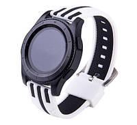 Силиконовый ремешок Dart для Samsung Gear S3 Classic SM-R770 / Frontier RM-760 - White-Black