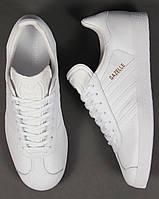 "Мужские кроссовки Adidas Gazelle Leather Trainers ""White"", фото 1"