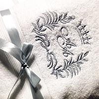 Машинная вышивка на полотенцах