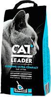 Cat Leader Clumping Ultra Compact Глиняный комкующийся наполнитель для кошачьего туалета