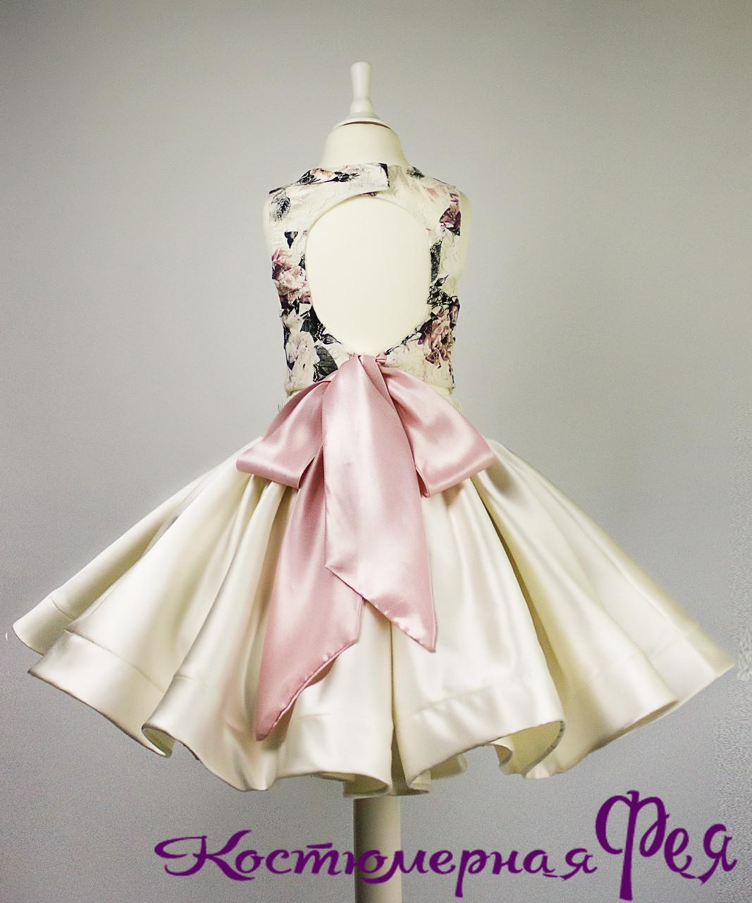 Детское пышное платье, юбка+топ (код 4/109)